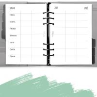 teilbare Kalendereinlagen Familienkalender 1W2S